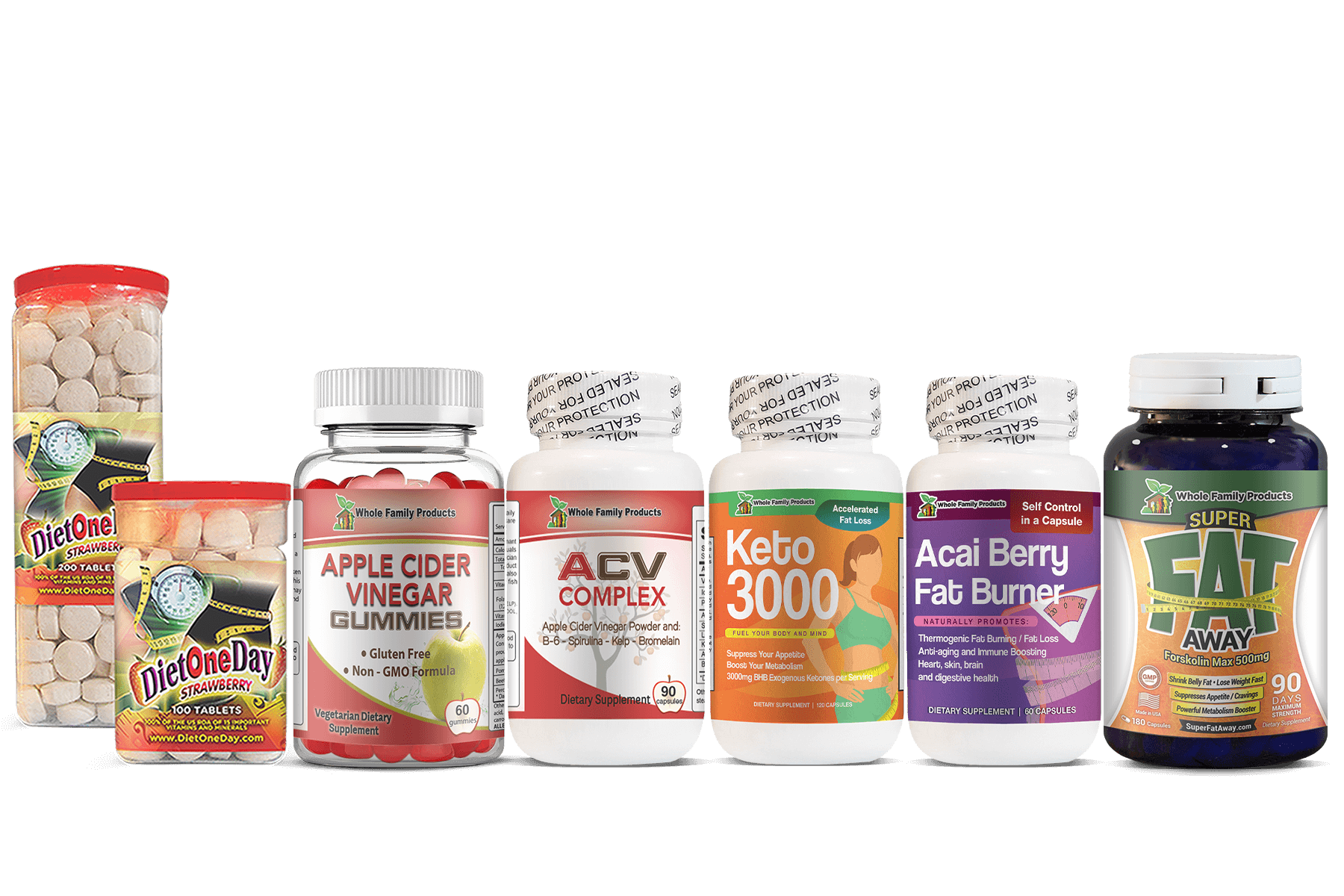 Weight Loss Supplements Product Images